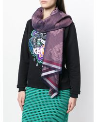 KENZO - Red Tiger Print Scarf - Lyst