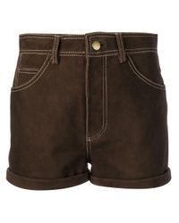 Pantalones cortos de talle alto Philosophy Di Lorenzo Serafini de color Brown
