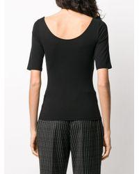 The Row スクープネック Tシャツ Black