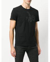 Alexander McQueen Black Floral Print T-shirt for men