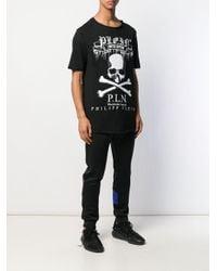 メンズ Philipp Plein スカル Tシャツ Black