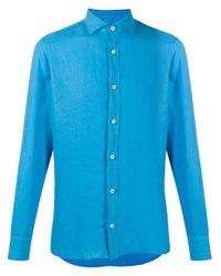 Camicia di Z Zegna in Blue da Uomo