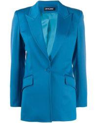 Styland Blue Single Breasted Blazer