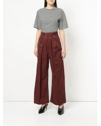 G.v.g.v Red Cropped Lace-up Trousers