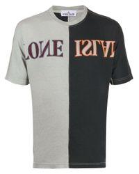 T-shirt à logo imprimé Stone Island pour homme en coloris Gray