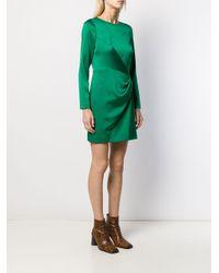 Paule Ka サテンパネル ドレス Green