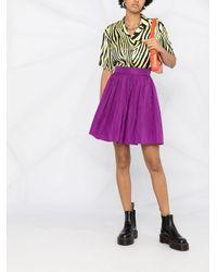 MSGM プリーツ ミニスカート Purple