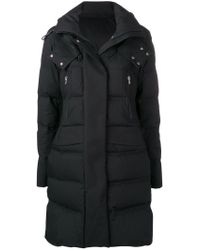 Peuterey - Black Hooded Padded Parka - Lyst