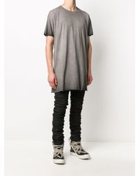 Camiseta larga con detalle de cremallera Boris Bidjan Saberi de hombre de color Gray