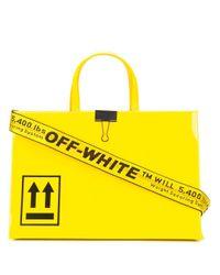 """Bolso Mini """"Box"""" De Charol Off-White c/o Virgil Abloh de color Yellow"""