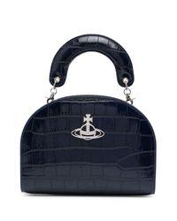 Vivienne Westwood ロゴプレート ハンドバッグ Blue