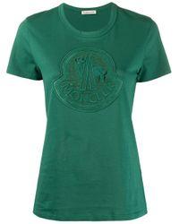 Moncler Green Logo Patch T-shirt