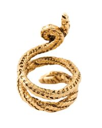 Aurelie Bidermann Metallic 'asclepios' Snake Ring