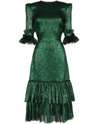The Vampire's Wife Veneration プリント ドレス Green