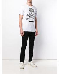 T-shirt con logo di Philipp Plein in White da Uomo