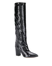Paris Texas クロコパターン ブーツ Black