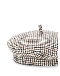 Ruslan Baginskiy ハウンドトゥース ベレー帽 Multicolor
