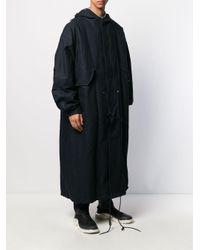 Parka longue à capuche Raf Simons pour homme en coloris Blue