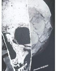 Clutch con teschio di Alexander McQueen in Multicolor da Uomo