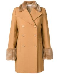 Vivetta Brown Double Breasted Coat