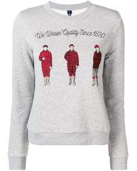 Woolrich エンブロイダリースウェットシャツ Gray
