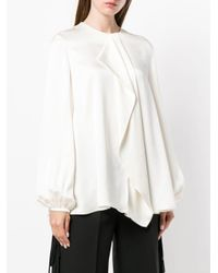 Loose Ruffled Blouse Alexander McQueen, цвет: White