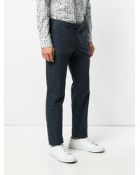 PT01 Blue Slim Fit Tailored Trousers for men