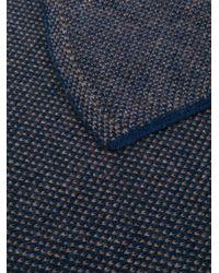 メンズ Dell'Oglio カシミア マフラー Blue