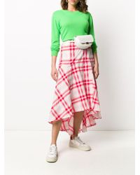 Ganni チェック ラップスカート Pink