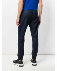Emporio Armani - Blue Drawstring-waist Track Pants for Men - Lyst
