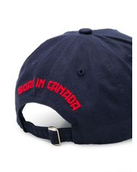 Casquette à logo brodé DSquared² pour homme en coloris Blue