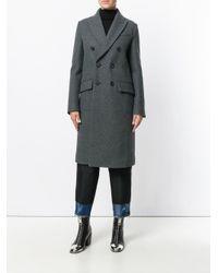 Двубортное Пальто DSquared², цвет: Gray