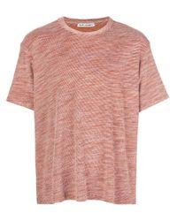 T-shirt a righe New Box di Our Legacy in Orange da Uomo