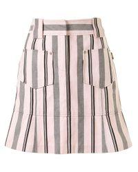 Юбка Мини В Полоску Louis Vuitton, цвет: Pink