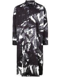 Chemise oversize imprimée Yohji Yamamoto en coloris Gray
