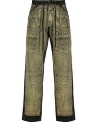 Liam Hodges Ausgeblichene Jeans mit Kordelzug in Black für Herren