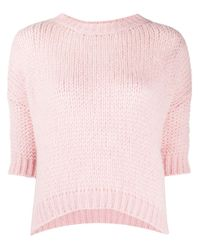Pull à manches courtes Roberto Collina en coloris Pink