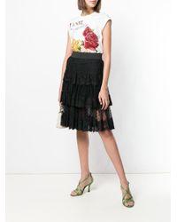 Dolce & Gabbana シアー フリル スカート Black