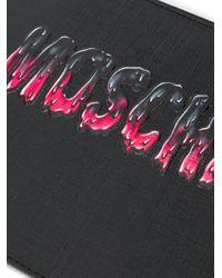 Pochette à logo imprimé Moschino en coloris Black
