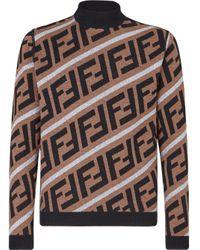 Pull en jacquard Prints On Fendi pour homme en coloris Brown
