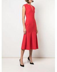 Victoria Beckham ノースリーブ Vネックドレス Orange