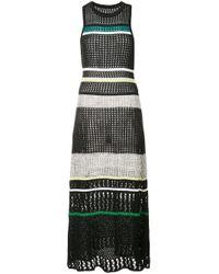 Robe en maille à rayures Proenza Schouler en coloris Black