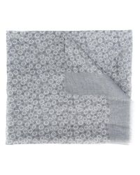 Canali | Gray Circle Pattern Scarf for Men | Lyst