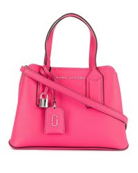 Borsa tote con logo di Marc Jacobs in Pink
