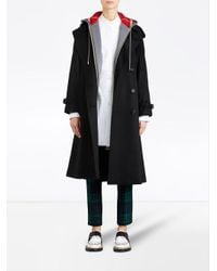 Burberry - Black Cashmere Classic Trench Coat - Lyst