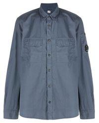 Camicia con pannelli a contrasto di C P Company in Blue da Uomo