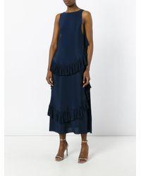 N°21 Blue Ruffled Maxi Dress