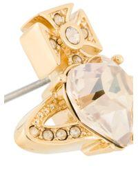 Vivienne Westwood Metallic Crystal Orb Studs