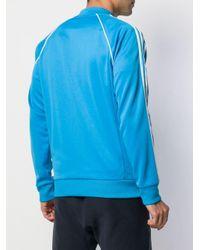 メンズ Adidas ジップ トップ Blue