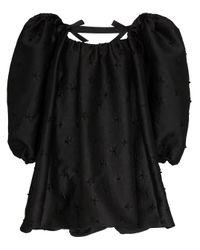 ShuShu/Tong Black Minikleid mit Puffärmeln